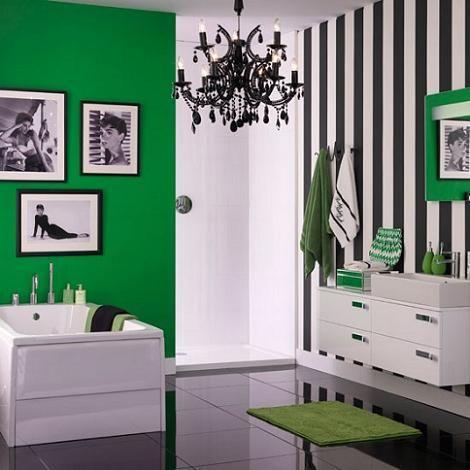 bano-moderno-verde