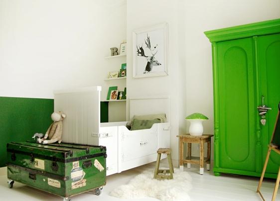 ideas-decoracion-habitaciones-niños-verde
