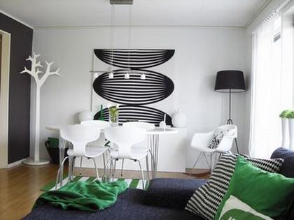 living_comedor_verde_blanco_negro